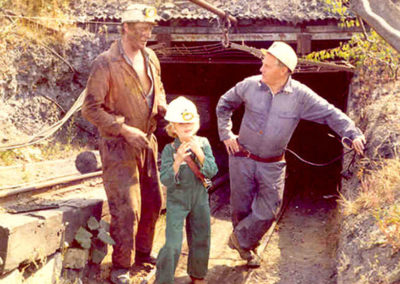 Nick Smith at a mine as a boy